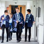 British state boaridng school students between classes