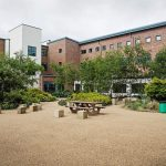 Courtyard in a UK state college in England