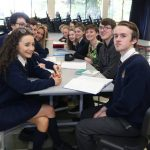 Students smiling at high school in ireland